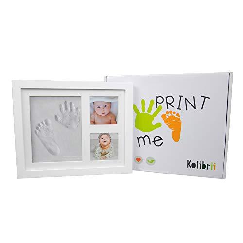 KOLIBRII-print Me, Cornice Impronte Neonato, Kit Impronta Mani E Piedi Neonati, Calco Manina E Piedino...