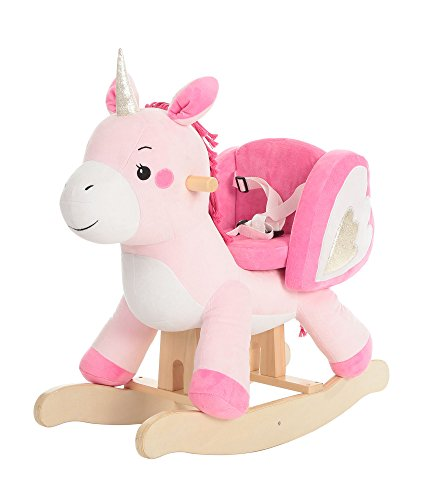labebe - Cavallo a Dondolo Legno, Inicorno Cavalcabile Bambino, Draga Cavalcabili per Bambini, Gioco...