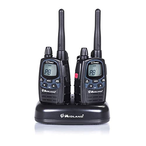 Midland G7 Pro Kit Radio Ricetrasmittente Walkie Talkie Dual Band 8 Canali PMR446 e 69 Canali LPD - 2...