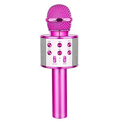 Bluetooth Microfono Karaoke per Bambini, Letsgocoo Giocattolo Regalo Bambina 4-16 Anni Giocattoli Bambina...