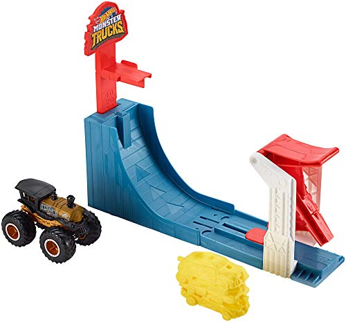 Hot Wheels Monster Trucks Pista Supersalto Big Air Breakout con Veicolo Incluso, Gioco per Bambini di 4 +...