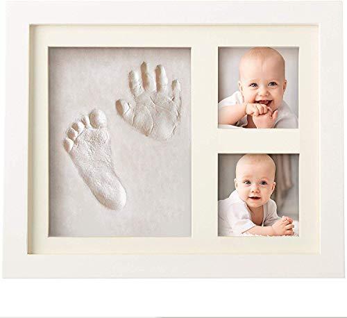 Bubzi Co Cornice con impronta bimbo in argilla – Kit portafoto con impronta della manina e del piedino...