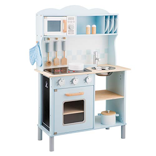 New Classic Toys Kitchenette-Modern-Electric Cooking, Colore Blu, 11065