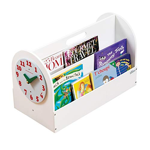 Tidy Books® - Scatola portalibri   Libreria per bambini   Orologio giocattolo   Contenitore porta giochi...