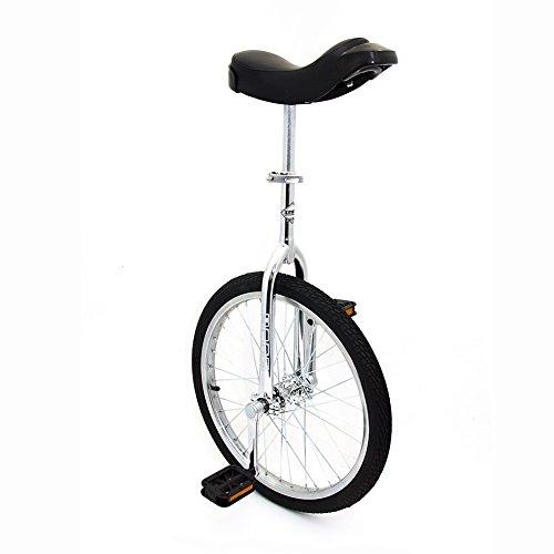 Indy Trainer - Monociclo per bambini cromato, telaio in acciaio da 50,8 cm, 1 velocità arrotondato...