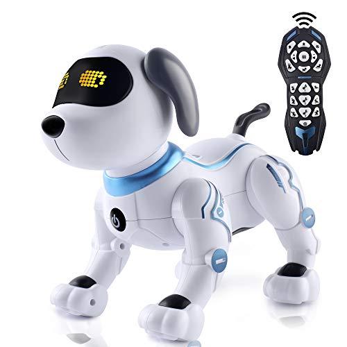 IDEAPARK Robot Giocattolo Cane robotico per Bambini Cane telecomandato con canti e Balli Regali per...