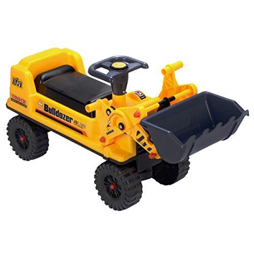 deAO Veicolo Cavalcabile per Bambini Trattori Escavatore Senza Pedali Pala dell'Escavatore Funzione...