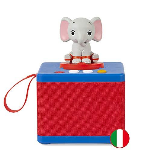 FABA- Raccontastorie Blu – Cassa Audio con Personaggio Sonoro Ele l'Elefante, FBC10002, Colore...