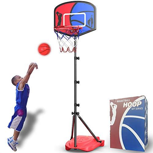 HAHAKEE Canestro Basket per Bambini, Regolabile Portatile Set da Basket, Stand per Pallacanestro per...