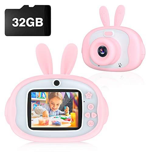 ZXHT Macchina Fotografica per Bambini con 32GB Carta TF Inclusa, 2.4 Pollici LCD, HD 1080P, Mini Macchina...