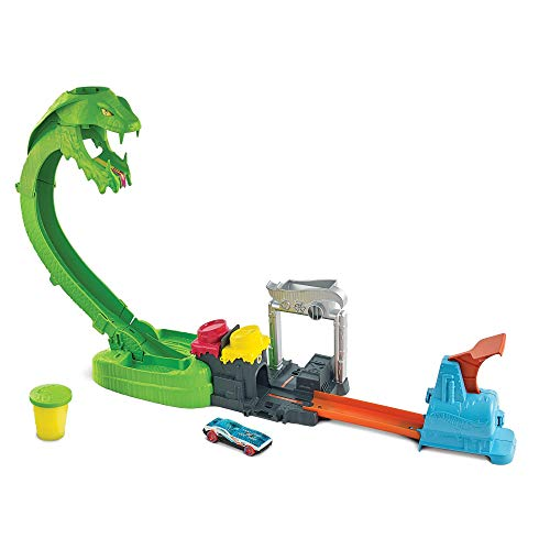 Hot Wheels Playset Assalto del Serpente Velenoso con Slime e Macchinina, Giocattolo per Bambini...