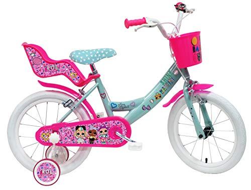 altro Art. 2495 MGA, Bici Bimba 16' LOL 2 Freni Unisex_Bambini, Rosa-Celeste