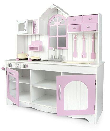 Leomark Cucina Exclusive Royal Rosa, giocattolo per bambini, gioco in legno, giocare d'imitazione,...