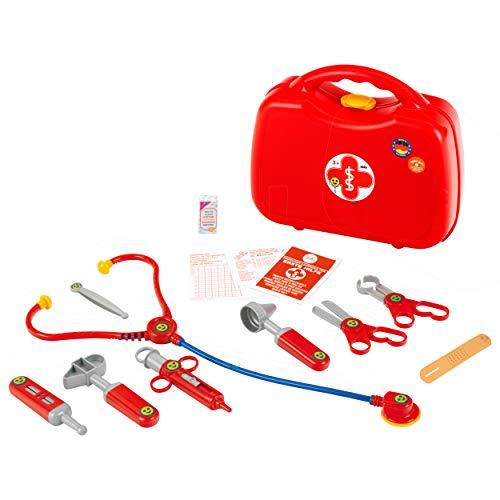 Theo Klein 4383 Valigetta del Dottore, con Stetoscopio, Termometro, Siringa e Pratica Maniglia di...