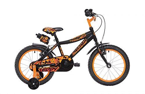 ATALA Bicicletta da bambino TEDDY BOY, colore nero opaco, altezza massima 120cm