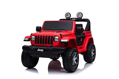 TOYSCAR electronic way to drive Auto Macchina Elettrica Jeep Wrangler Rubicon 12V per Bambini Porte...