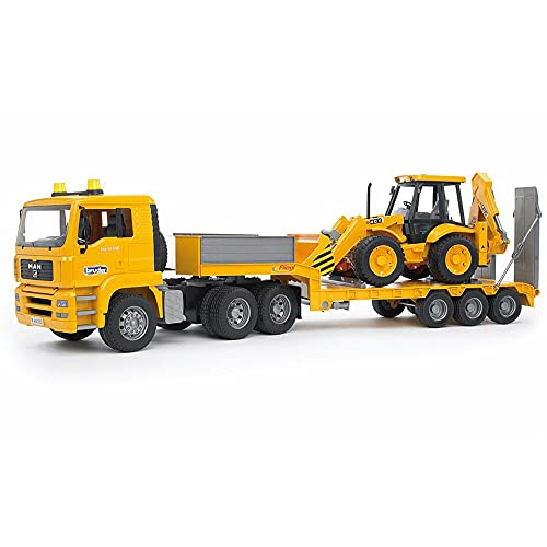 Bruder Spielwaren- Camion Bruder Costr Bilico C/Scavatore 2776, Multicolore, 837120