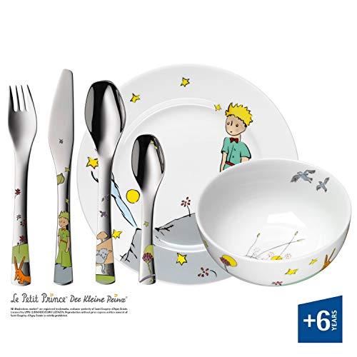 WMF Il Piccolo Principe Posate per Bambini, Acciaio Inossidabile, Porcellana, Multicolore, 6 Pezzi