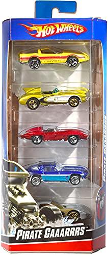 Hot Wheels, Pack con 5 Macchinine, Veicoli Giocattolo per Bambini 3+Anni, Modelli Assortiti, 01806