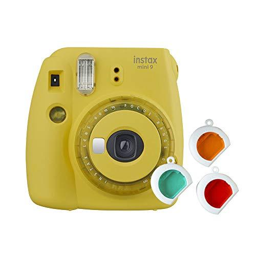 Fujifilm Instax Mini 9 Yellow Fotocamera per Stampe, Formato 62 x 46 mm, Giallo