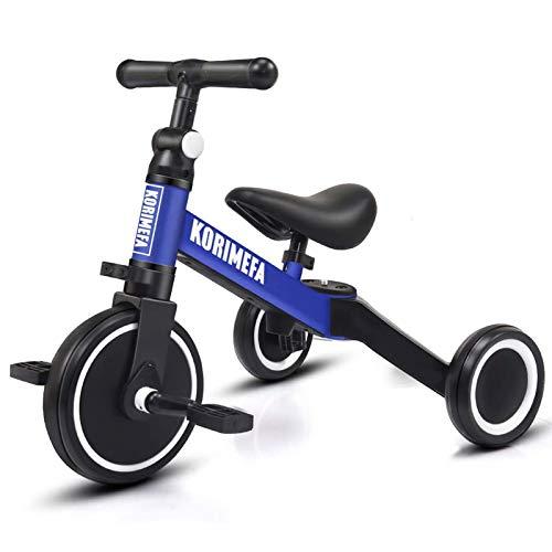 KORIMEFA 3 in 1 Triciclo Bambini 1 Anno Bicicletta Senza Pedali 2 Anni Bambini Triciclo per Bambini 1-3...