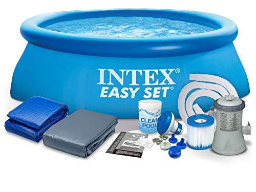 7in1Set Giardino Piscina 366x 76cm Quick Up Pool con accessori Intex 28130