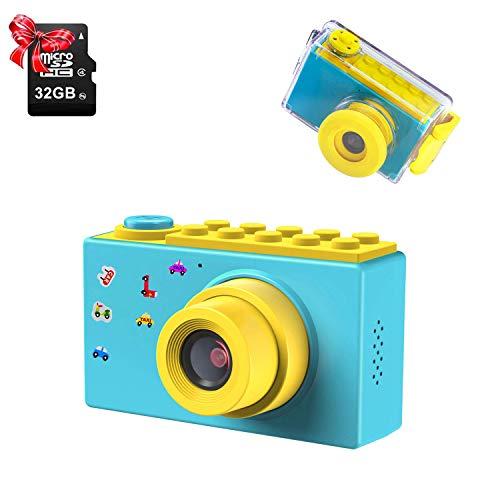 ShinePick Macchina Fotografica per Bambini, Fotocamera bambini subacquea, Impermeabile/8MP/HD...