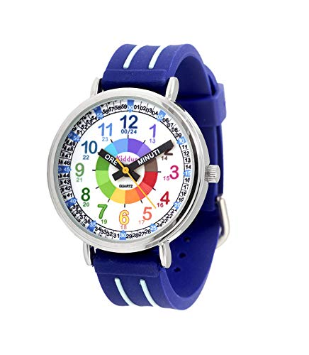Orologi educativi KIDDUS per bambini, ragazze. Orologio da polso analogico con esercizi per imparare a...