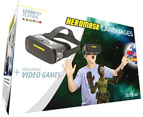 Heromask: Visore 3D Bimbo + Giochi Educativi Inglese, Spagnolo... [ Regali Originali ] - Giocattoli...