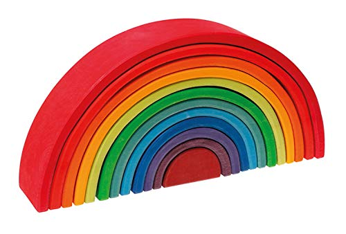 Grimm's Toys Rainbow Stacking Toy, xtra-large