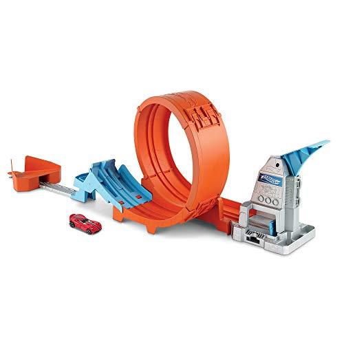 Hot Wheels -Pista Acrobazie nel Loop con Lanciatore Doppio, Rampa a Molla e Macchinina, Giocattolo per...