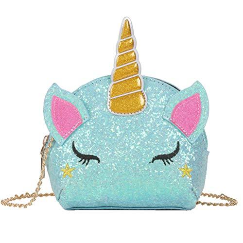 unicorno Borsa a tracolla Glitter ciondolo a forma di unicorno Borsa con tracolla a forma di unicorno con...