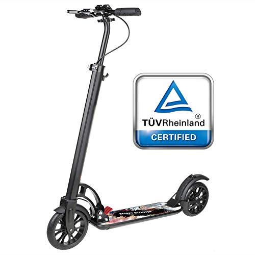 besrey Monopattino Big Wheel Kick Scooter con Sospensione, Pieghevole e Altezza Regolabile Urban Scooter...