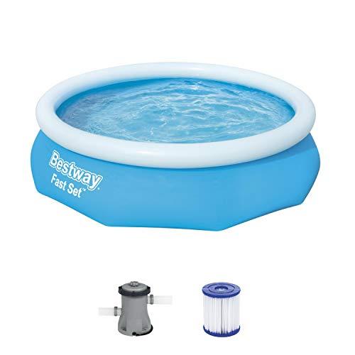 Bestway Fast Set piscina con pompa filtrante, Blu, 305 x 76 cm