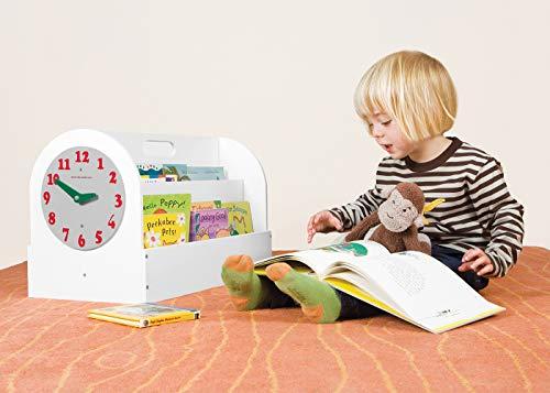 Tidy Books®Scatola portalibri, Libreria per bambini, Orologio giocattolo, Contenitore porta giochi,...