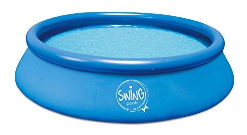 Swing Quick Up Easy - Piscina da pavimento, 366 x 91 cm, senza filtro, colore: Blu