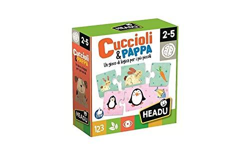 Headu IT20058 Gioco Cuccioli & Pappa, Multicolore