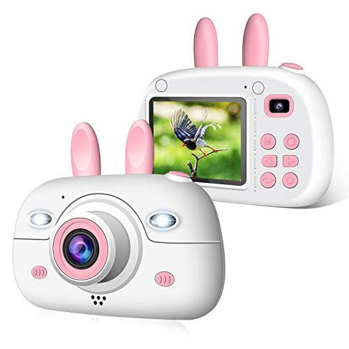 2NLF Macchina Fotografica per Bambini, Bambina Fotocamera Digitale Portatile Selfie Videocamera per...