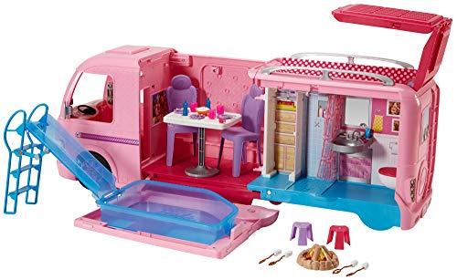 Barbie FBR34 Camper dei Sogni per Bambole con Piscina, Bagno, Cucina e Tanti Accessori, Giocattolo per...