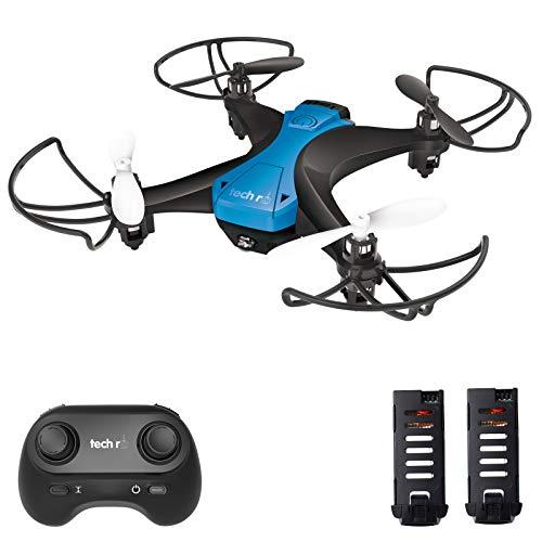 tech rc Mini Drone Facile da Pilotare con Due Batterie Funzione di Un Pulsante di Decollo/ Atterraggio...