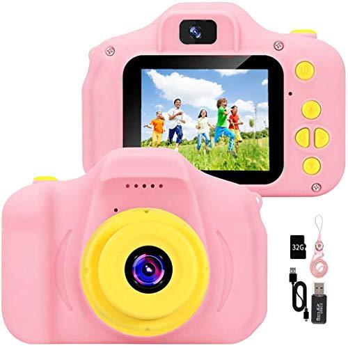 YunLone Macchina Fotografica per Bambini 12MP Selfie Fotocamera Bambine con Scheda 32GB, Custodia,...