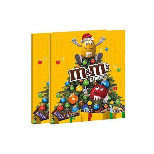 M&M's 2 Confezioni di M&M's Calendario Dell' Avvento Assortimento Misto, 2 Confezioni - 722 gr