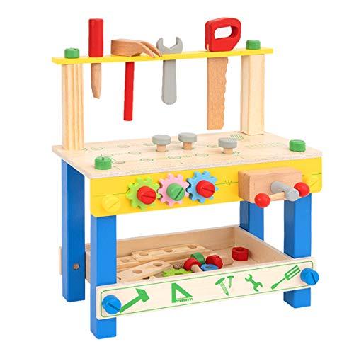 ROBUD Banco da Lavoro per Bambini   Banco da Lavoro in Legno   Attrezzi Giocattolo Bambini