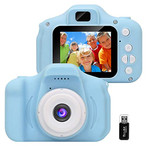 GlobalCrown Fotocamera Bambini,Mini Ricaricabile Fotocamera Digitale per Bambini Videocamera Regali per...