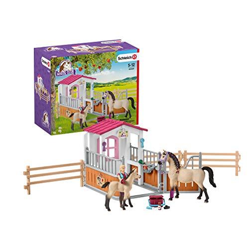 SCHLEICH- Box Cavalli Arabi e Addetta Cura Animali, 42369