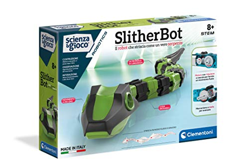 Clementoni- Scienza e Gioco Robotics-SlitherBot, Robot per Bambini, Kit di robotica (Versione in...