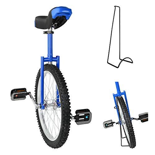 Triclicks 20'' Unicycles Monociclo Onlyone Monociclo Alto Trainer per Bambini/Adulti Monociclo Regolabile...