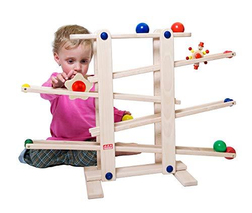 Trihorse - Gioco in legno per bambini da 1 anno di età, molto stabile, con 6 giochi da far rotolare,...