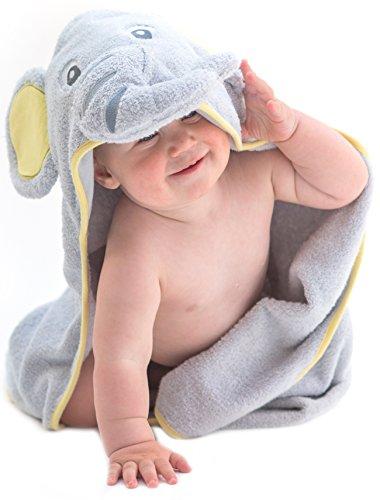 Little Tinkers World Asciugamano Elefante per Bambini EXTRA SOFFICE - Asciugamano da Bagno 100% in Cotone...