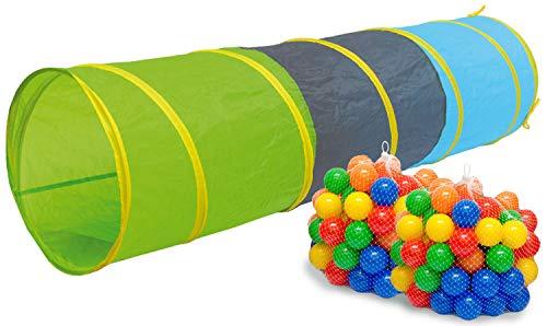 LittleTom Tenda Gioco Pop-up 100x100x72cm incl 200 Palline Colorate Azzurro